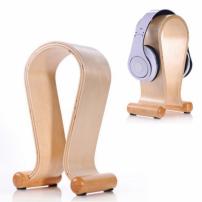 SAMDI luxusní dřevěný stojan na sluchátka - světle hnědý