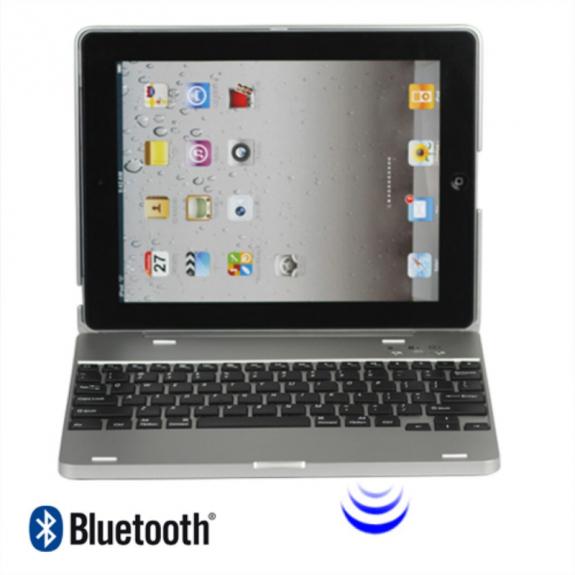 AppleKing plastový obal / kryt s bluetooth klávesnicí pro Apple iPad 2 / 3 / 4 - možnost vrátit zboží ZDARMA do 30ti dní