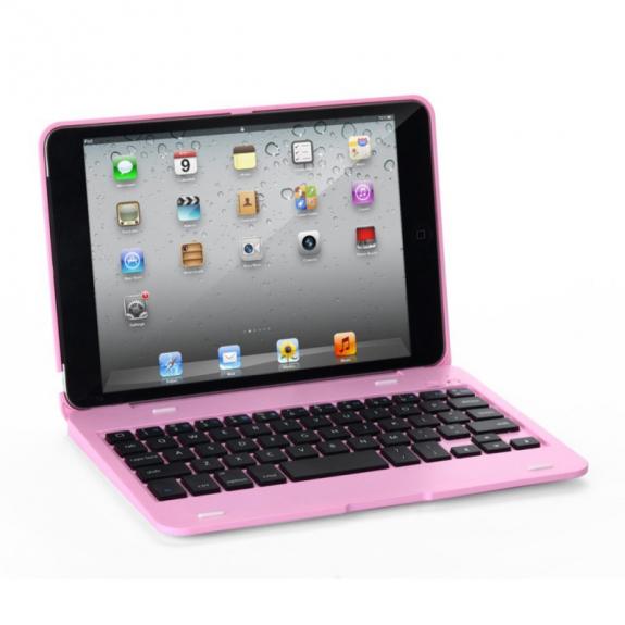 WITSPAD Ochranný obal / kryt s Bluetooth klávesnicí pro Apple iPad Mini 1 / 2 / 3 - růžový - možnost vrátit zboží ZDARMA do 30ti dní