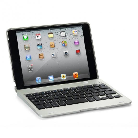 WITSPAD Ochranný obal / kryt s Bluetooth klávesnicí pro Apple iPad Mini 1 / 2 / 3 - stříbrný - možnost vrátit zboží ZDARMA do 30ti dní