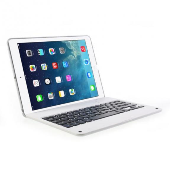 AppleKing bezdrátová Bluetooth klávesnice a kryt pro Apple iPad Air 2 - bílá - možnost vrátit zboží ZDARMA do 30ti dní