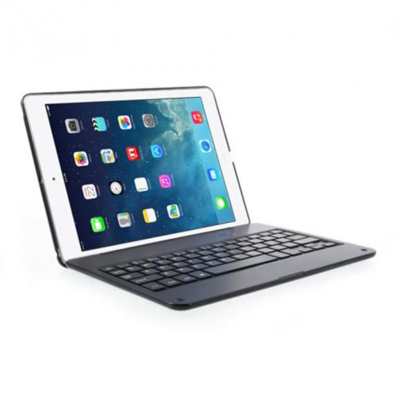 AppleKing bezdrátová Bluetooth klávesnice a kryt pro Apple iPad Air 2 - černá - možnost vrátit zboží ZDARMA do 30ti dní