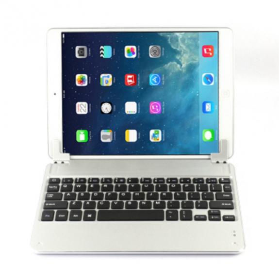 AppleKing hliníkový kryt s bluetooth klávesnicí pro Apple iPad Air - stříbrný - možnost vrátit zboží ZDARMA do 30ti dní