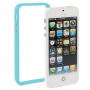 Ochranný plastový rámeček / bumper pro iPhone 5 / 5S / SE - světle modrý