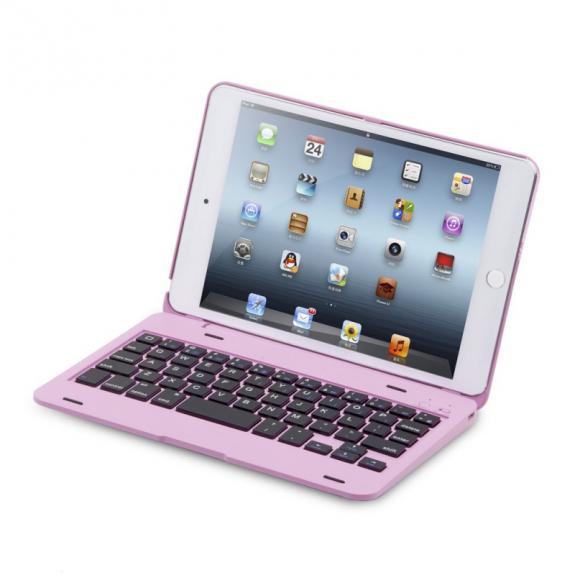 AppleKing hliníkový kryt s bluetooth klávesnicí pro Apple iPad mini 4 - růžový - možnost vrátit zboží ZDARMA do 30ti dní