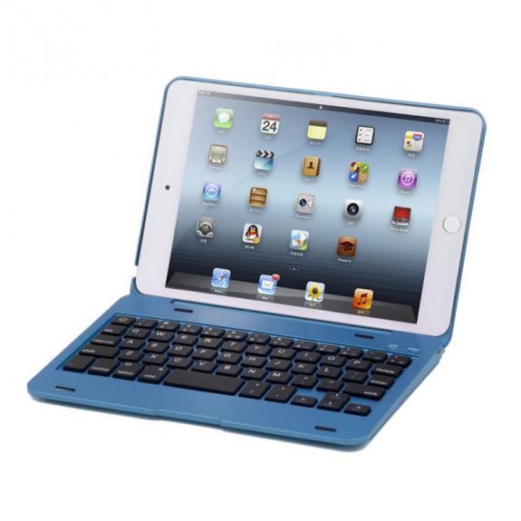AppleKing hliníkový kryt s bluetooth klávesnicí pro Apple iPad mini 4 - modrý - možnost vrátit zboží ZDARMA do 30ti dní