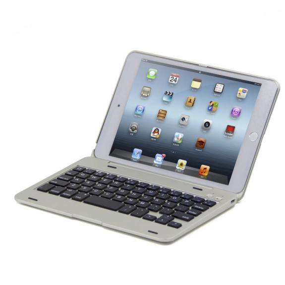 AppleKing hliníkový kryt s bluetooth klávesnicí pro Apple iPad mini 4 - stříbrný - možnost vrátit zboží ZDARMA do 30ti dní