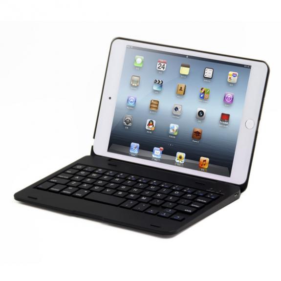 AppleKing hliníkový kryt s bluetooth klávesnicí pro Apple iPad mini 4 - černý - možnost vrátit zboží ZDARMA do 30ti dní