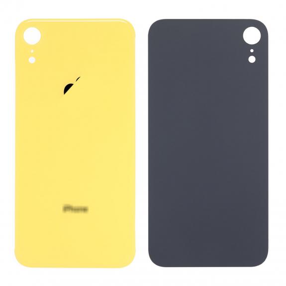 AppleKing náhradní zadní sklo (housing) pro Apple iPhone XR - žluté - možnost vrátit zboží ZDARMA do 30ti dní