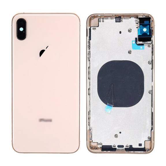 AppleKing zadní kryt (housing) pro Apple iPhone X - zlatý - možnost vrátit zboží ZDARMA do 30ti dní