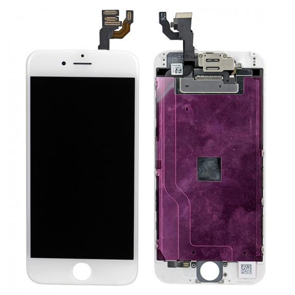 AppleKing kompletně osazený LCD displej bez tlačítka Home Button pro Apple iPhone 6 - bílá - možnost vrátit zboží ZDARMA do 30ti dní
