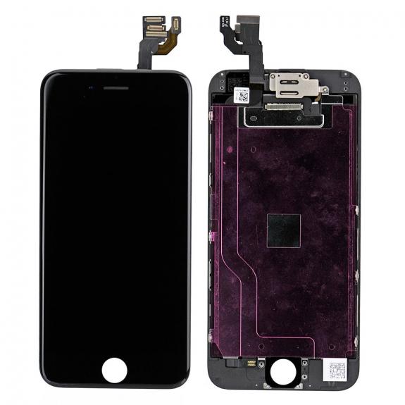 AppleKing kompletně osazený LCD displej bez tlačítka Home Button pro Apple iPhone 6 - černá - možnost vrátit zboží ZDARMA do 30ti dní