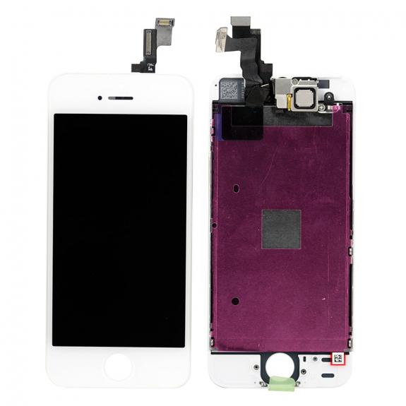 AppleKing kompletně osazený LCD displej bez tlačítka Home Button pro Apple iPhone 5 - bílá - možnost vrátit zboží ZDARMA do 30ti dní