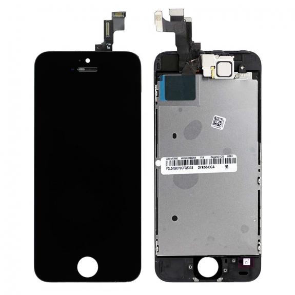 AppleKing kompletně osazený LCD displej bez tlačítka Home Button pro Apple iPhone 5 - černá - možnost vrátit zboží ZDARMA do 30ti dní