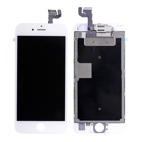 AppleKing kompletně osazený LCD displej bez tlačítka Home Button pro Apple iPhone 6S - bílá - možnost vrátit zboží ZDARMA do 30ti dní