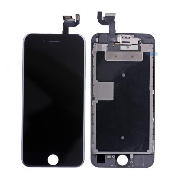 AppleKing kompletně osazený LCD displej bez tlačítka Home Button pro Apple iPhone 6S - černá - možnost vrátit zboží ZDARMA do 30ti dní