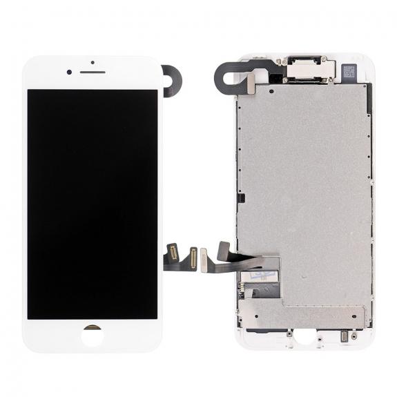 AppleKing kompletně osazený LCD displej bez tlačítka Home Button pro Apple iPhone 7 - bílá - možnost vrátit zboží ZDARMA do 30ti dní