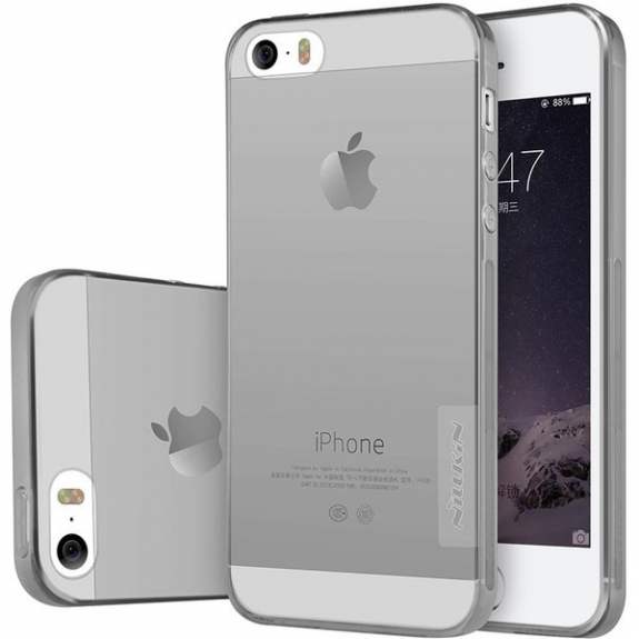 Nillkin Nature průhledný kryt pro Apple iPhone 5 / 5S/ SE - šedý 8595642223082 - možnost vrátit zboží ZDARMA do 30ti dní