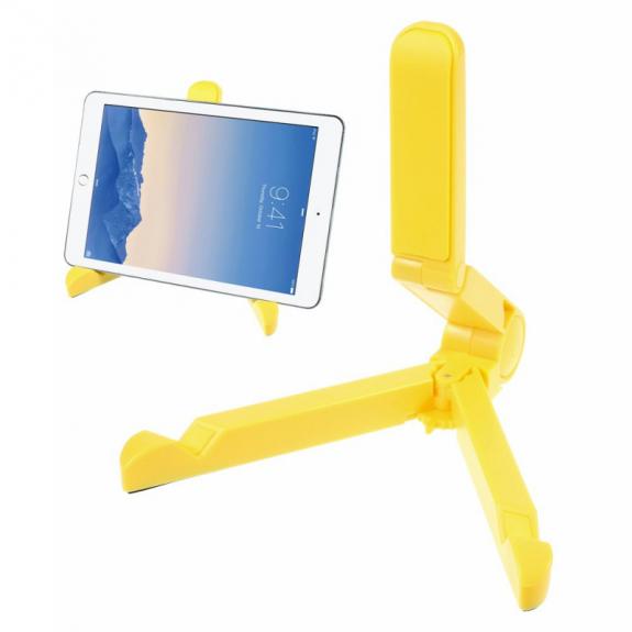 "AppleKing skládací stojánek pro Apple iPad Pro 12.9"" / iPad Air 2 / iPad Mini 4 - žlutý - možnost vrátit zboží ZDARMA do 30ti dní"