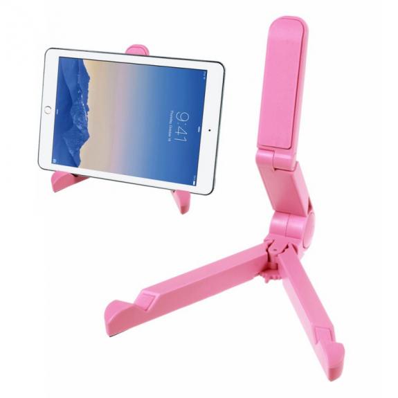 """AppleKing skládací stojánek pro Apple iPad Pro 12.9"""" / iPad Air 2 / iPad Mini 4 - růžový - možnost vrátit zboží ZDARMA do 30ti dní"""