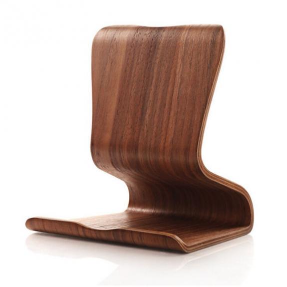 AppleKing luxusní dřevěný univerzální stojánek pro Apple iPad / iPhone - ořech - možnost vrátit zboží ZDARMA do 30ti dní