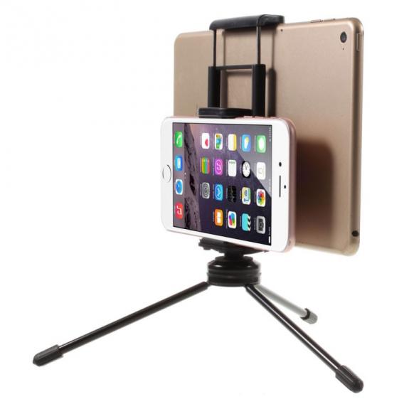 AppleKing multifunkční stojánek / tripod pro dvě zařízení - smartphone / tablet - černý - možnost vrátit zboží ZDARMA do 30ti dní
