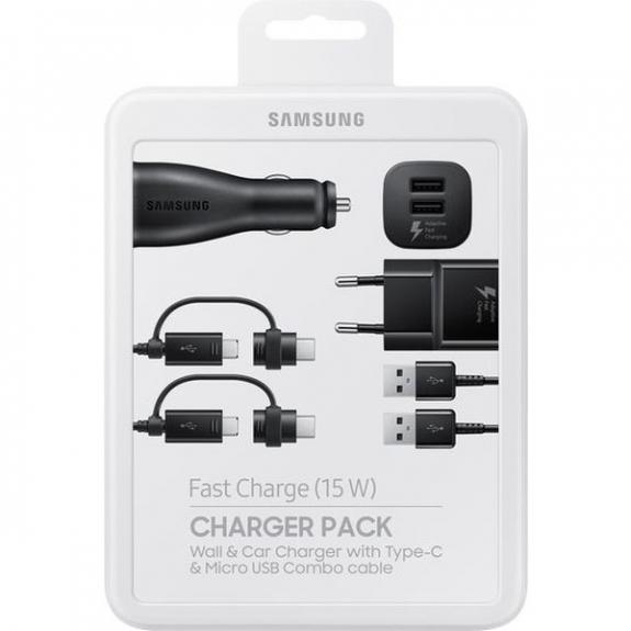 Samsung originální nabíjecí sada do sítě i do auta - černá EP-U3100WBEGWW - možnost vrátit zboží ZDARMA do 30ti dní