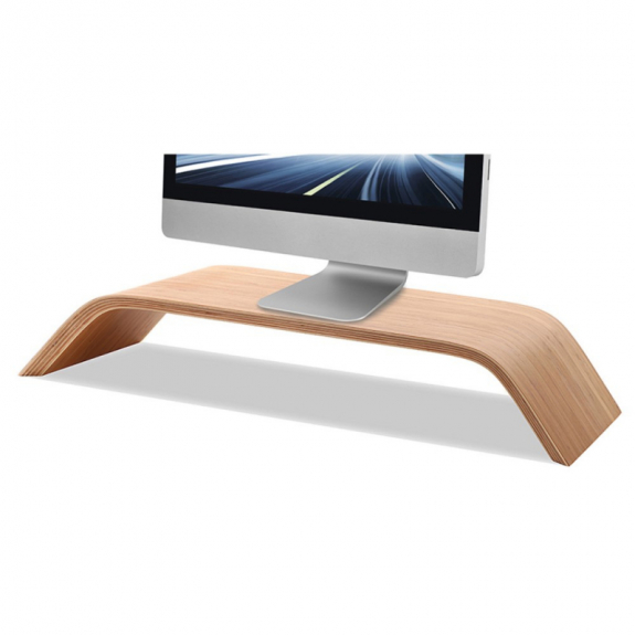 SAMDI Dřevěný stojánek pod iMac 36 x 23cm - možnost vrátit zboží ZDARMA do 30ti dní