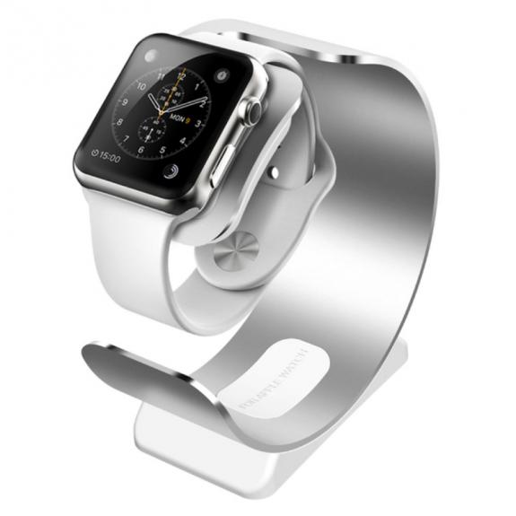 SINCETOP hliníkový stojánek / nabíječka pro Apple Watch - Stříbrný - možnost vrátit zboží ZDARMA do 30ti dní