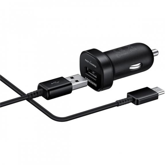 Samsung rychlá autonabíječka s USB portem a USB-C kabelem - černá EP-LN930 - možnost vrátit zboží ZDARMA do 30ti dní