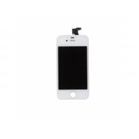 Náhradní LCD displej s dotykovým sklem a rámečkem pro Apple iPhone 4 - TOP kvalita - bílý