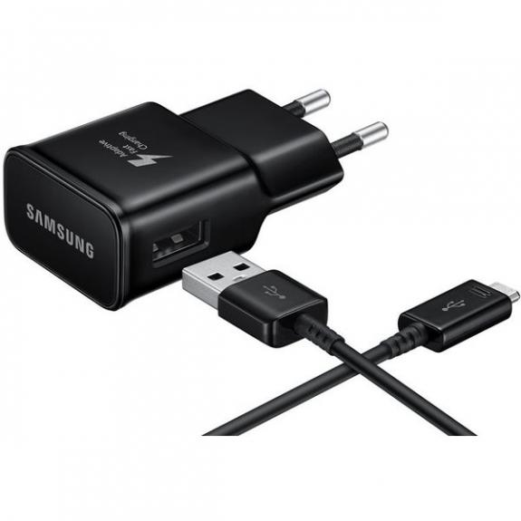 Samsung cestovní rychlá nabíječka s kabelem USB-C - černá EP-TA20EBECGWW - možnost vrátit zboží ZDAR