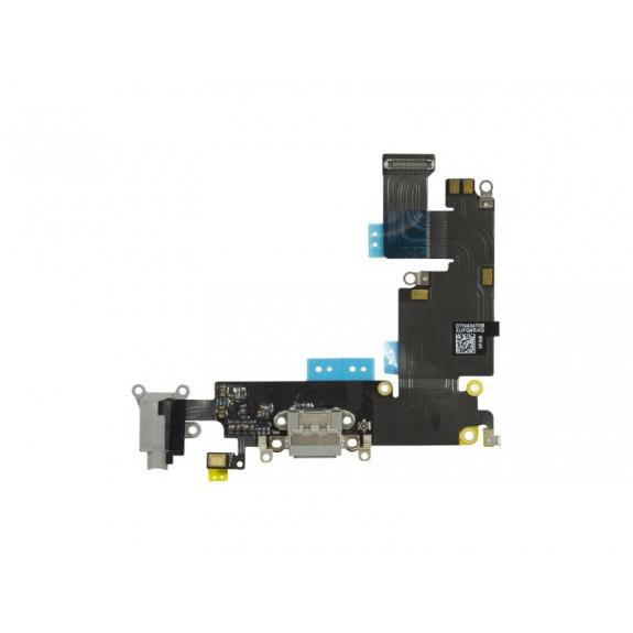Napájecí a datový konektor s jack konektorem a flex kabelem pro Apple iPhone 6 Plus - vesmírně šedá (Space Gray) - možnost vrátit zboží ZDARMA do 30ti dní