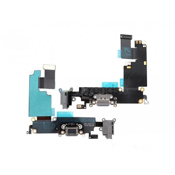 Napájecí a datový konektor s jack konektorem a flex kabelem pro Apple iPhone 6 - vesmírně šedá (Space Gray) - možnost vrátit zboží ZDARMA do 30ti dní