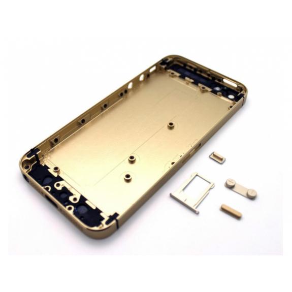 AppleKing zadní náhradní kryt včetně tlačítek pro Apple iPhone 5S - zlatý - možnost vrátit zboží ZDARMA do 30ti dní