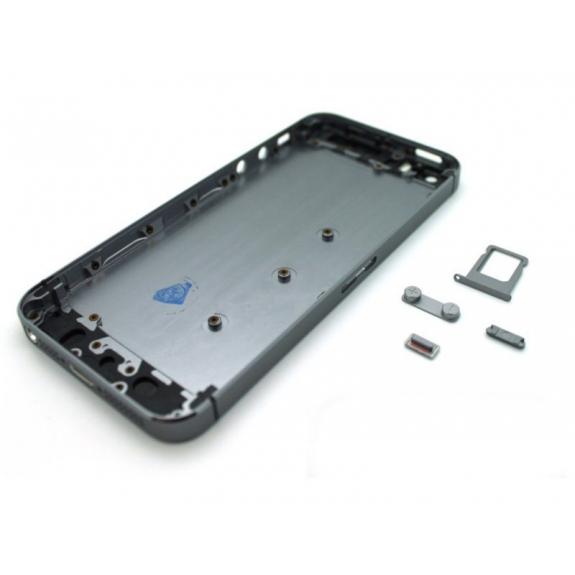 AppleKing zadní náhradní kryt včetně tlačítek pro Apple iPhone 5S - vesmírně šedý (Space Gray) - možnost vrátit zboží ZDARMA do 30ti dní