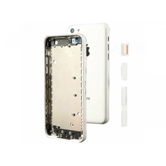 AppleKing zadní náhradní kryt včetně tlačítek pro Apple iPhone 5C - bílý - možnost vrátit zboží ZDARMA do 30ti dní