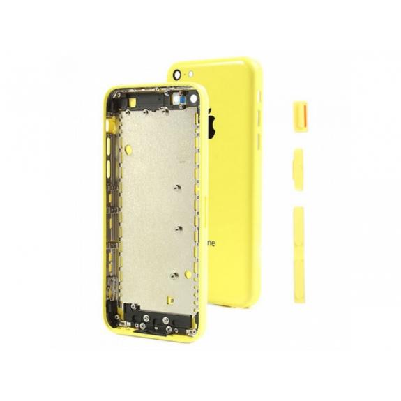 AppleKing zadní náhradní kryt včetně tlačítek pro Apple iPhone 5C - žlutý - možnost vrátit zboží ZDARMA do 30ti dní