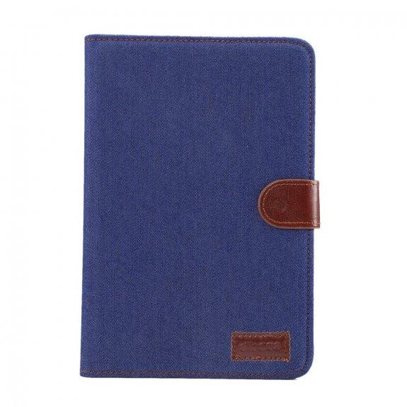AppleKing džínové peněženkové pouzdro pro Apple iPad mini 4 / 5 - tmavě modré - možnost vrátit zboží ZDARMA do 30ti dní