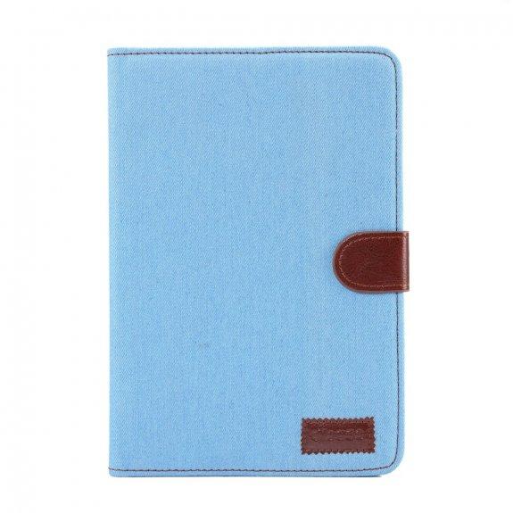 AppleKing džínové peněženkové pouzdro pro Apple iPad mini 4 / 5 - modré - možnost vrátit zboží ZDARMA do 30ti dní