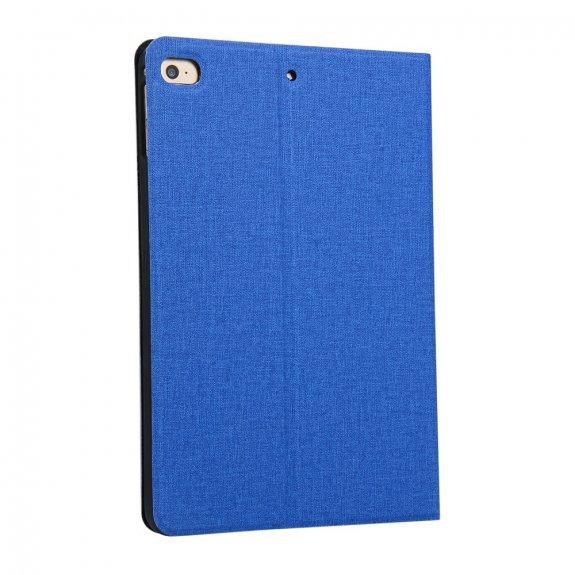AppleKing pouzdro s textilním povrchem pro iPad mini 4 / 5 - modré - možnost vrátit zboží ZDARMA do 30ti dní