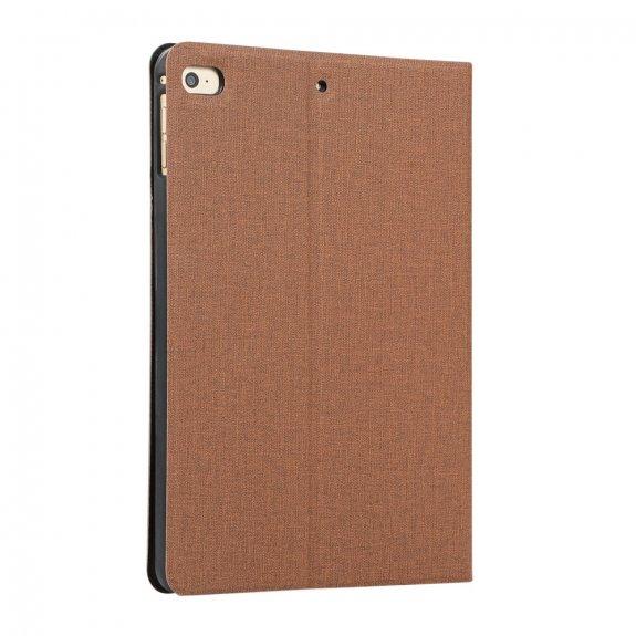 AppleKing pouzdro s textilním povrchem pro iPad mini 4 / 5 - hnědé - možnost vrátit zboží ZDARMA do 30ti dní