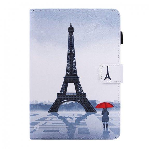 AppleKing peněženkové pouzdro Eiffelovka za deště pro iPad mini 1 / 2 / 3 - černé - možnost vrátit zboží ZDARMA do 30ti dní