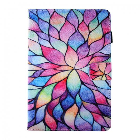 AppleKing peněženkové pouzdro kreslené okvětní plátky pro iPad mini 1 / 2 / 3 - barevné - možnost vrátit zboží ZDARMA do 30ti dní