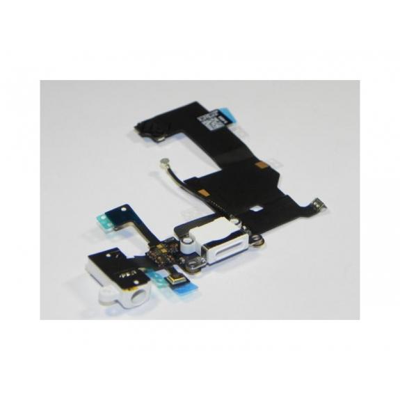 AppleKing napájecí a datový konektor s jack konektorem a flex kabelem pro Apple iPhone 5 - bílá - možnost vrátit zboží ZDARMA do 30ti dní