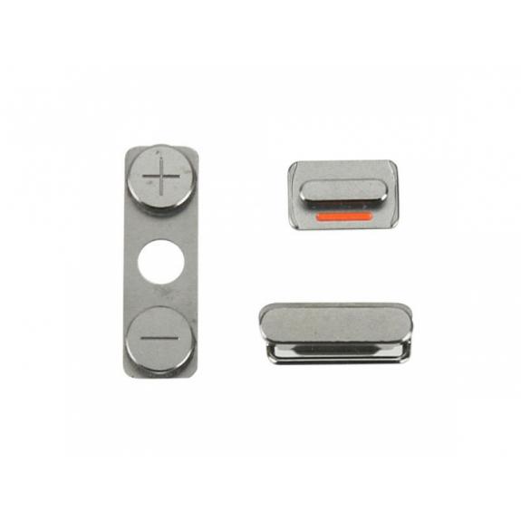 AppleKing náhradní postranní tlačítka pro Apple iPhone 4S (Hlasitost + Zapnutí / vypnutí + Ztlumení) - možnost vrátit zboží ZDARMA do 30ti dní
