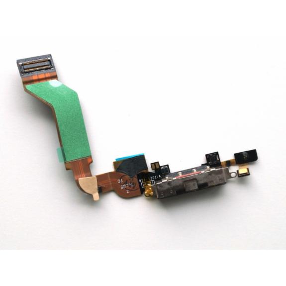 AppleKing napájecí a datový konektor s mikrofonem a flex kabelem pro Apple iPhone 4S - černá - možnost vrátit zboží ZDARMA do 30ti dní