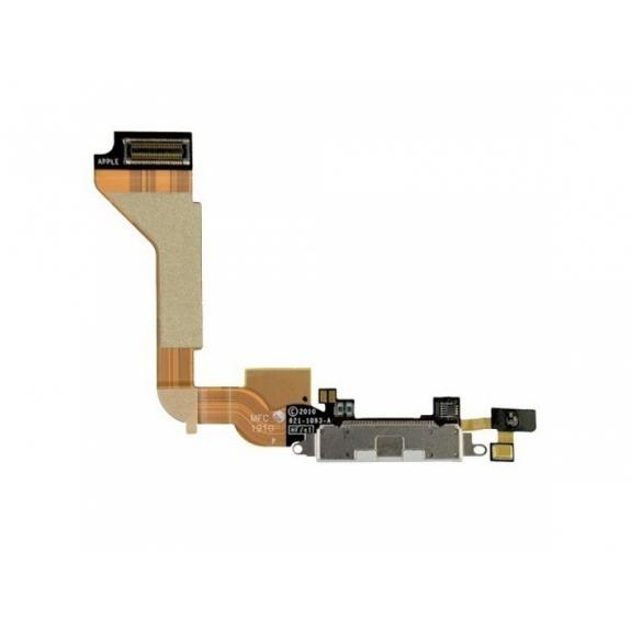 AppleKing napájecí a datový konektor s mikrofonem a flex kabelem pro Apple iPhone 4 - bílá - možnost vrátit zboží ZDARMA do 30ti dní
