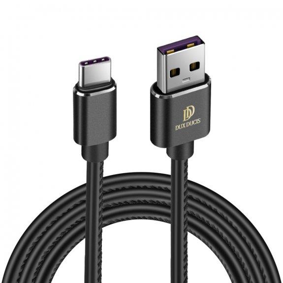 AppleKing dux Ducis K-max nabíjecí a datový kabel s lightning a USB-C - černý - možnost vrátit zboží ZDARMA do 30ti dní