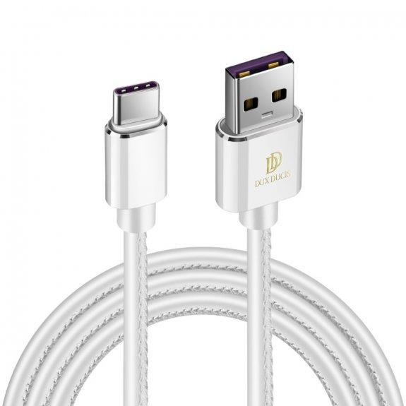 AppleKing dux Ducis K-max nabíjecí a datový kabel s lightning a USB-C - bílý - možnost vrátit zboží ZDARMA do 30ti dní